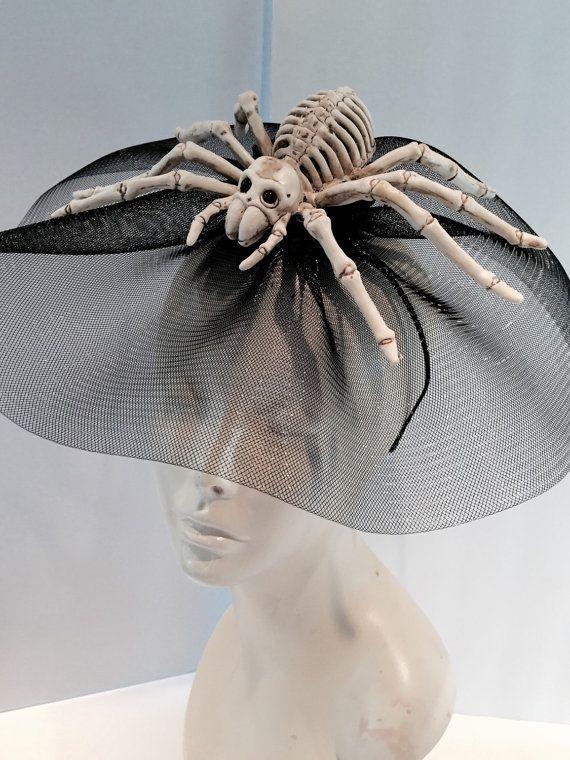 Spider Fascinator-Black widow-Halloween by doramarra on Etsy