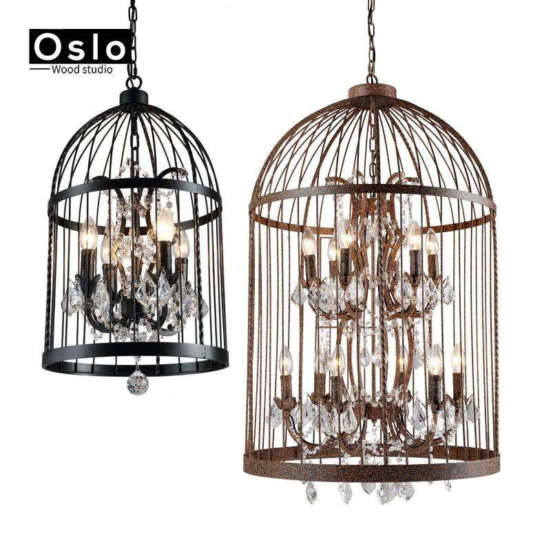 Crystal Bird Cage Chandelier Interior Creative Crystal Chandelier