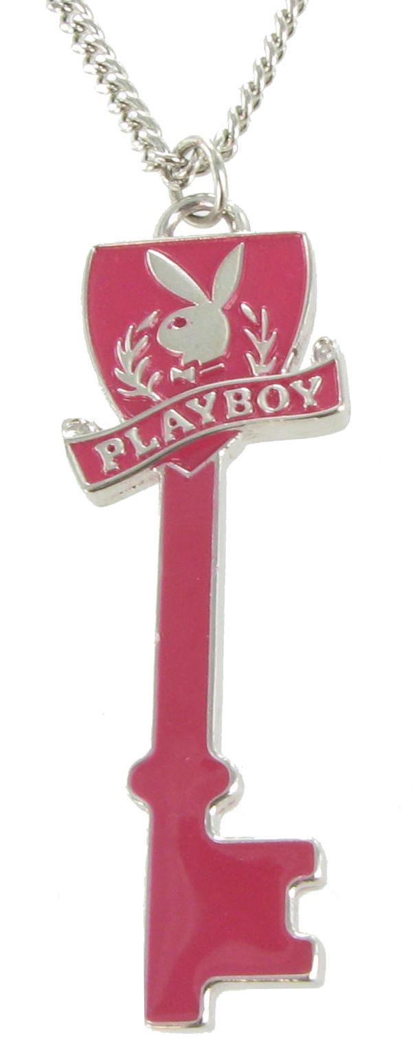 Pendant Necklace Licensed Playboy Bunny Pink Key | Halloween Costume ...