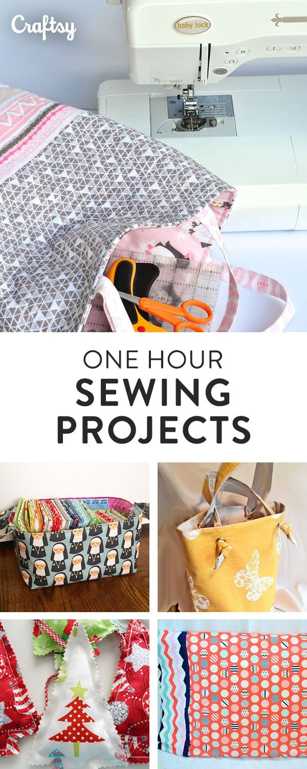 1-Hour Sewing Projects: 6 Free Patterns on Craftsy | Costura ...