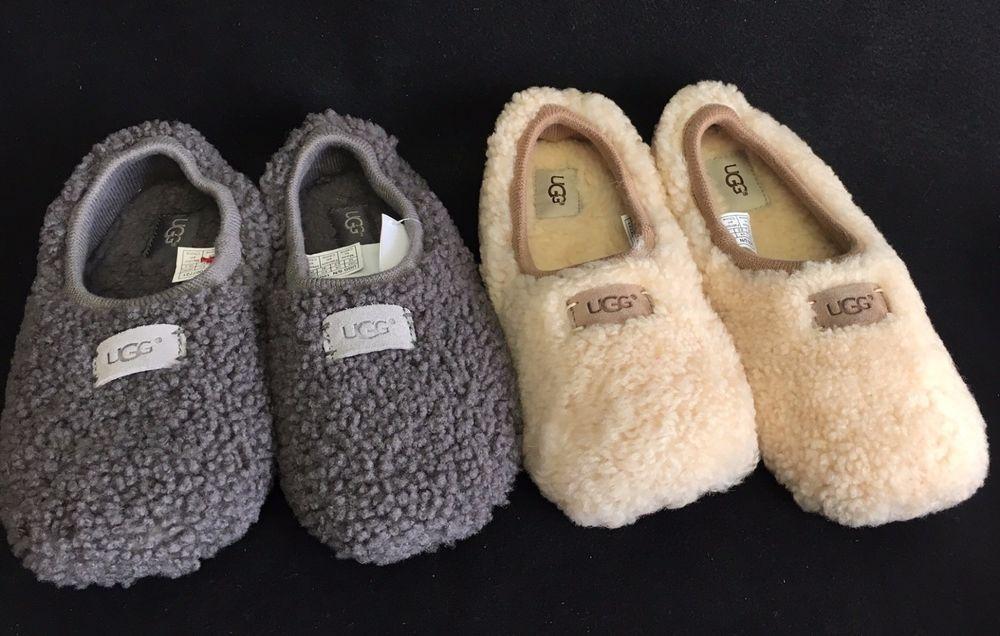 14b2cd90147 UGG AUSTRALIA WOMEN BIRCHE Casual Sheepskin Slippers 1007721 Natural ...