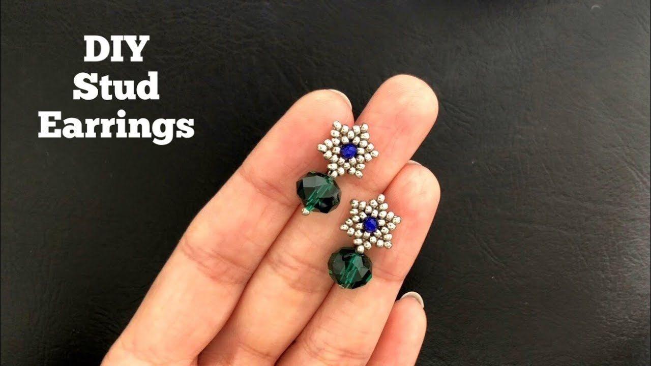 Diy simple stud earrings super easy tutorial how to make