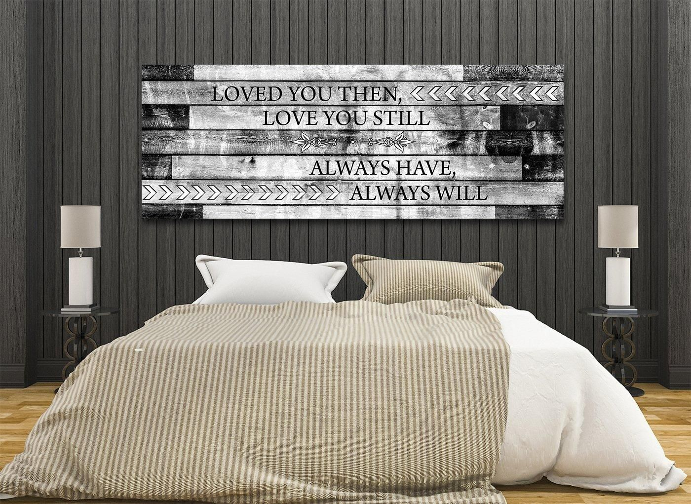 Loved You Then Love You Still Framed Romantic Canvas Wall Art For Couples images