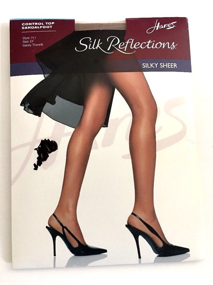 a4475cdce6b Hanes Silk Reflections Silky Sheer Control Top Sandalfoot 717 EF Barely  There  Hanes  Pantyhose