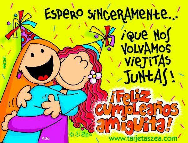 Feliz Cumpleanos Amiga Felicitacion De Cumpleanos Amiga