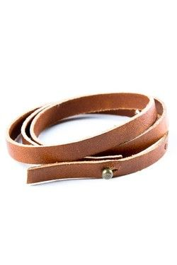 "Natural Leather Wrist ""Belt"" by Sarah A.- Gone Native on CrowdJewel"