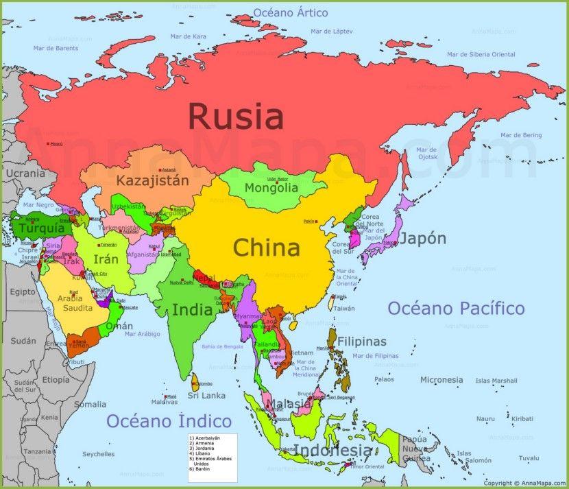 mapa de ásia Mapa de Asia | Asia | Pinterest | Asia mapa de ásia