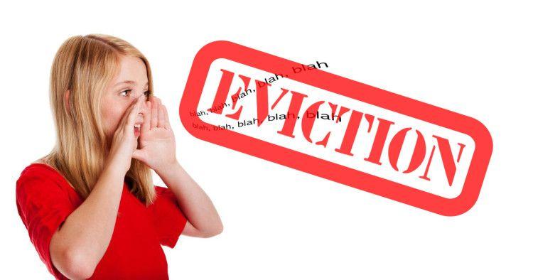 Eviction notice negative self talk eviction notice