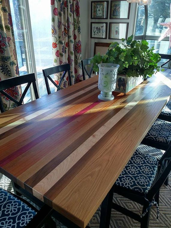 Reclaimed Exotic Wood Table, Custom Tabletop, Unique Desktop, Made To  Order, Unique Strip Table In Custom Size, Walnut Wood
