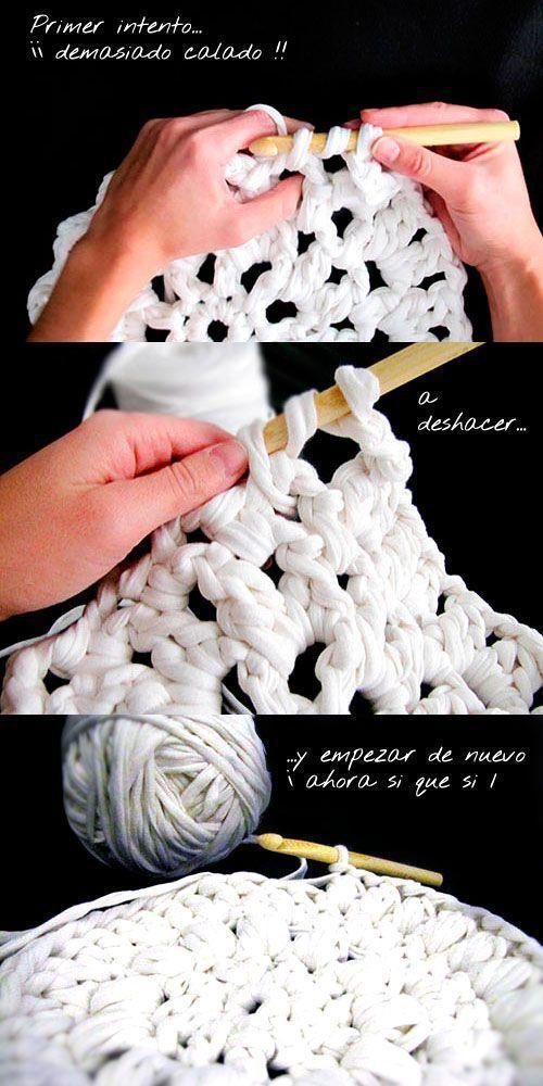 Cómo tejer una Alfombra de trapillo XXL | Alfombras de trapo ...
