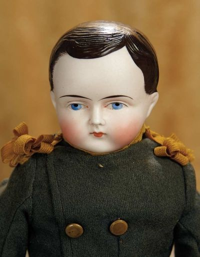 A Matter of Circumstance: 205 German Bisque Doll with Rare Brown Sculpted Hair