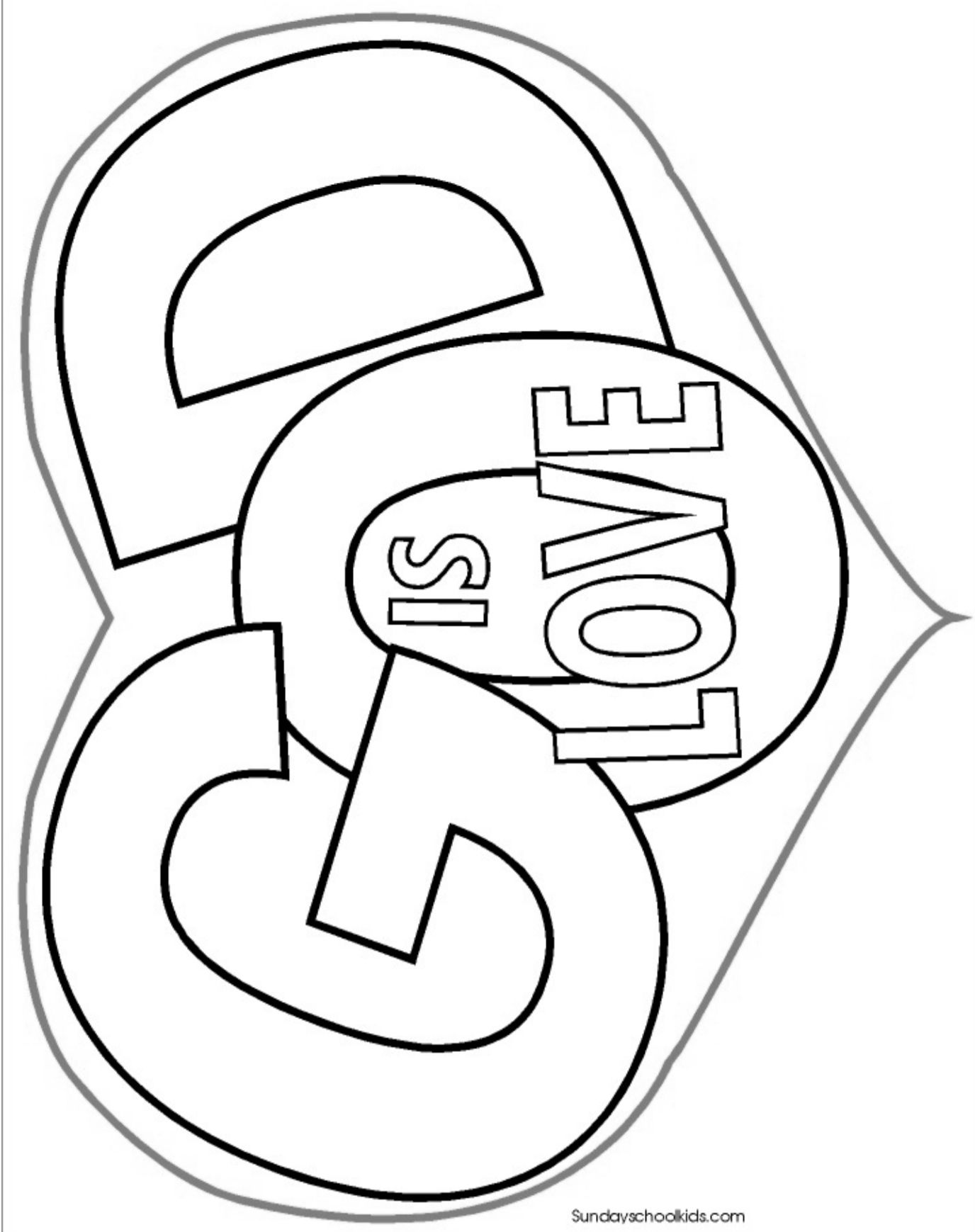 God is Love  Sunday school coloring pages, Sunday school coloring