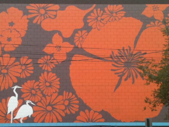 Outdoor Painted Wall Mural. Not This Mural, But I Like Getting Rid Of Ugly