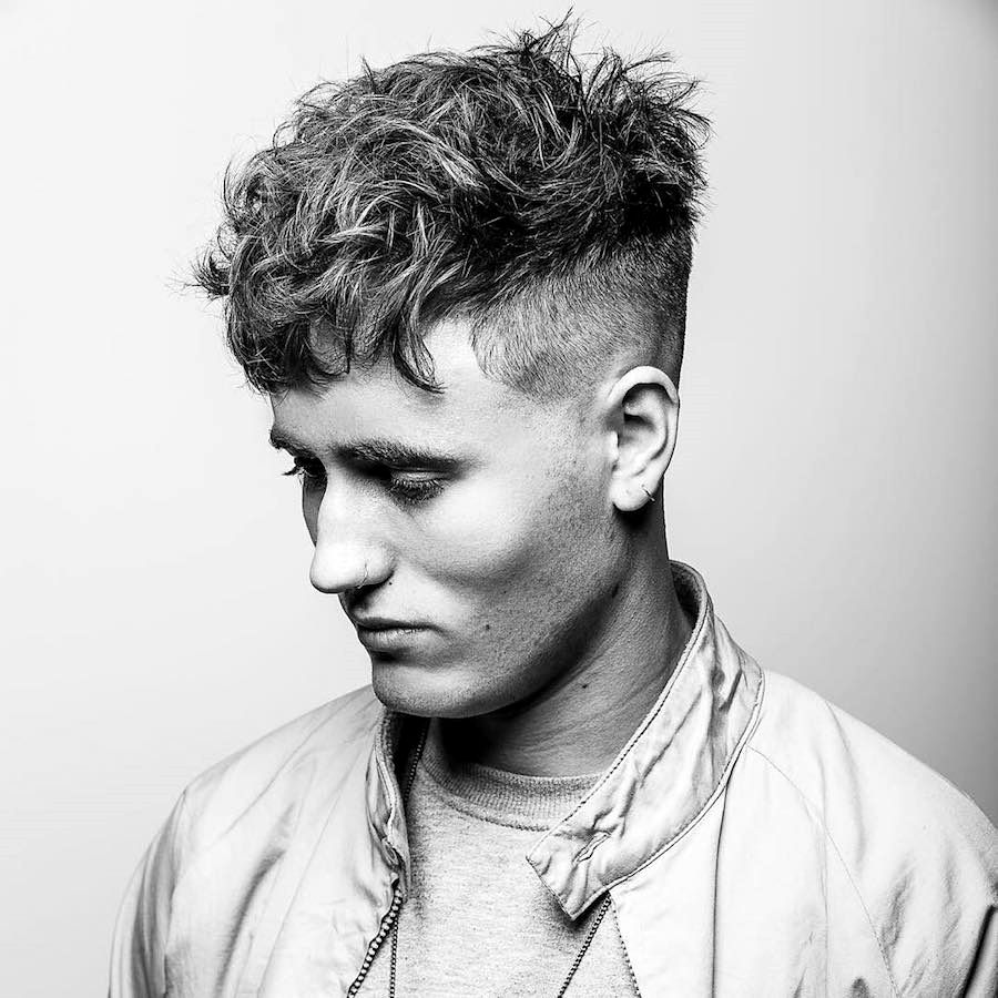 Cool White Guy Haircuts Gallery In 2020 Crop Haircut Haircuts For Men Curly Hair Styles