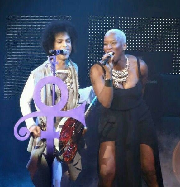 Prince with Liv Warfield  Your songs live in me all through the day.
