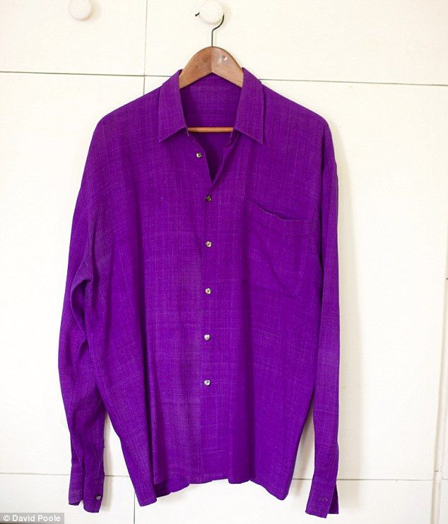 My purple shirt, which I bought in Vietnam for £10, is my go-to with a navy blazer when I ...