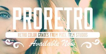 PRORETRO™ PROFESSIONAL RETRO COLOR GRADES FOR FCPX  From instant vintage washed effects to hipster grades, you can create every retro look you could ever want in Final Cut Pro X with PRORETRO™ from Pixel Film Studios™. This collection of 30 Photo filters can be applied, adjusted, and customized directy in FCPX.