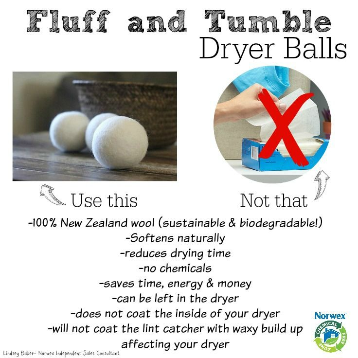 Use Dryer Balls Instead Of Dryer Sheets Or Liquid Fabrics Norwex