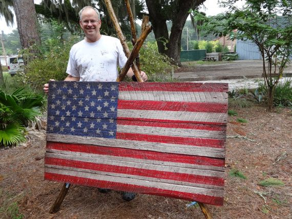 Giant Size Wooden American Flag 3x5 Foot Beauty Coming In At Wooden American Flag Small Flags American Flag