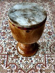 The tonbak (also tombak, donbak, dombak or zarb (ضَرب or ضرب) is a goblet drum from Persia (ancient Iran). It is considered the principal percussion instrument of Persian music.