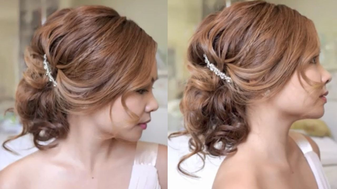 low bridal tousled updo hair tutorial - video dailymotion