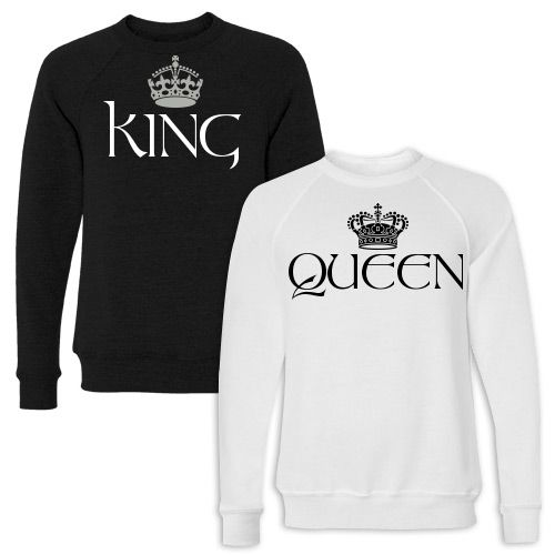 66de22d83a King and Queen Couple Shirts #coupleshirts #matchingcouples #couples ...