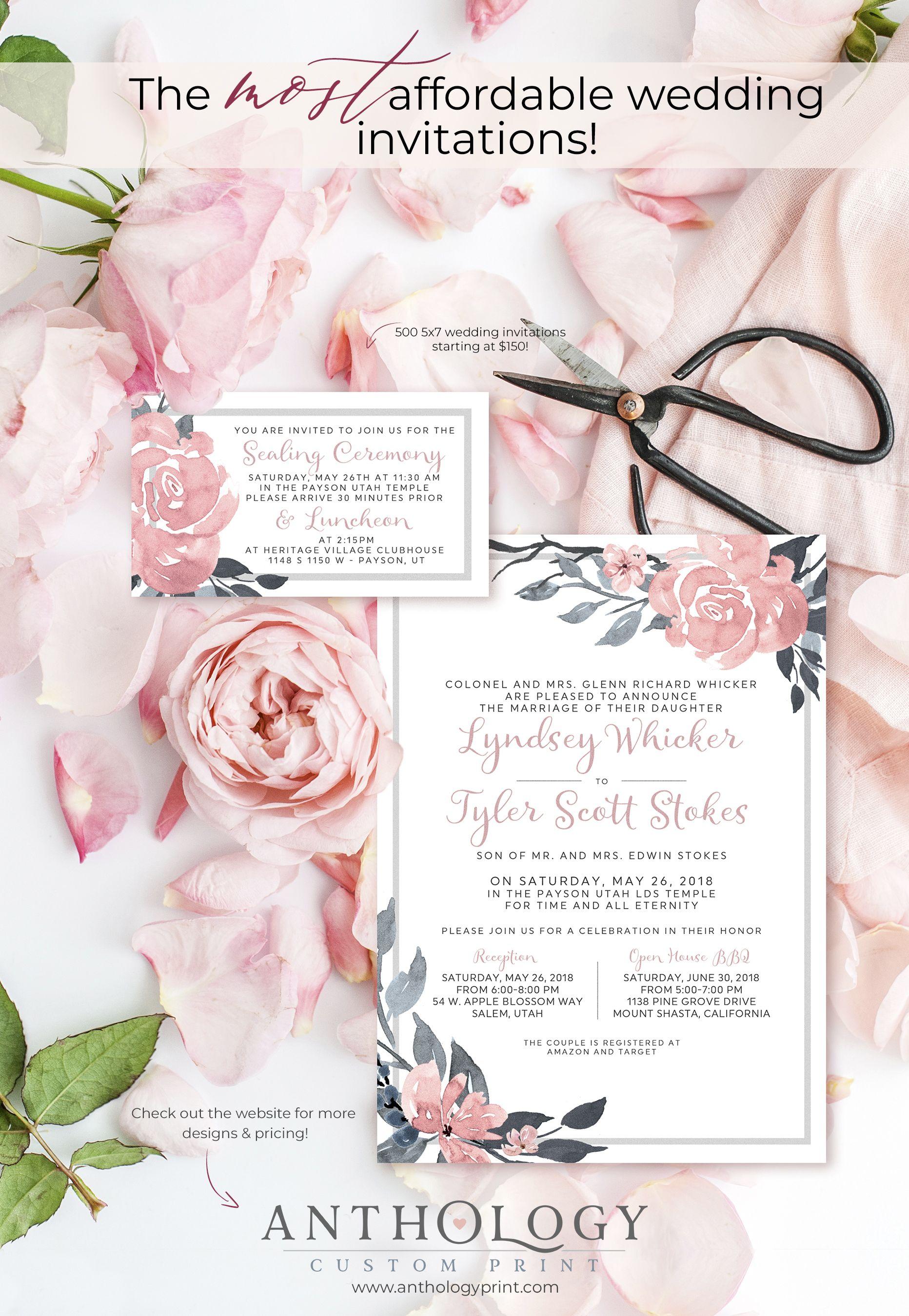 Pretty Affordable Wedding Invites Affordable Wedding Invitations Wedding Invitation Inspiration Blush Wedding Invitations