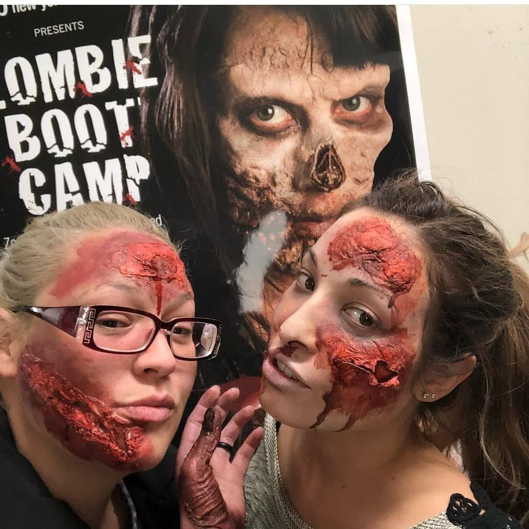 Zombie Makeup Creations at Zombie Boot Camp! Special