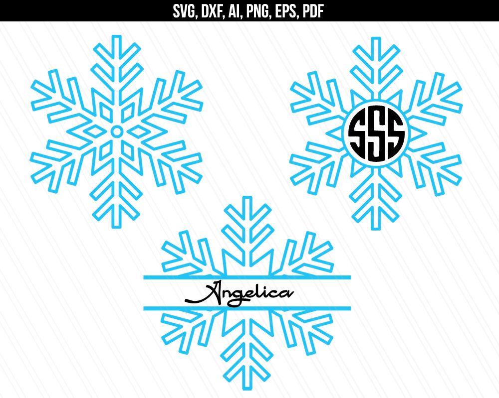 Snowflake svg, Snowflake monogram svg, Snowflake clipart