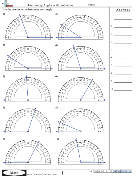 Printables Protractor Worksheets measuring angles with a protractor worksheet plustheapp 4th grade angles