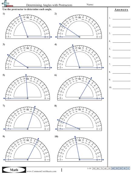 Angles Worksheets Angles worksheet, Math worksheets