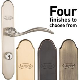 Larson BRUSHED NICKEL Storm Door Curved Locking Handle Set FOR LARSON DOORS!!!