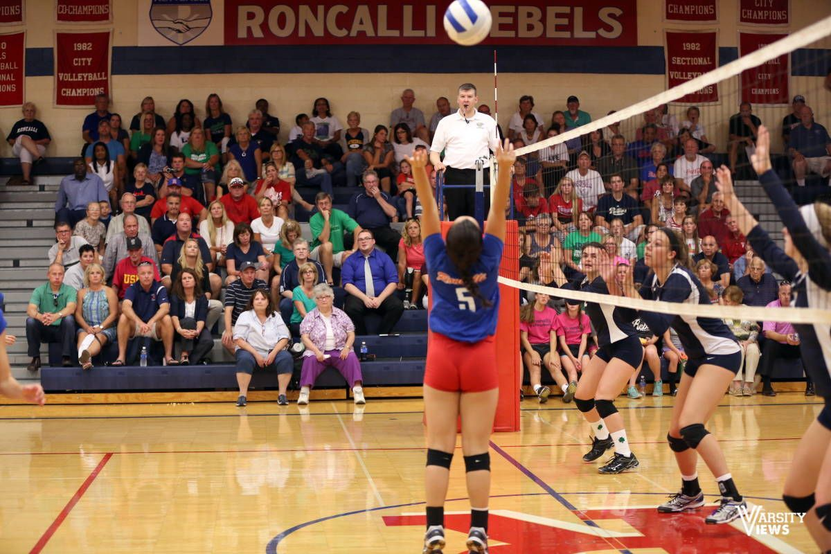 Girls Varsity Volleyball Roncalli Vs Cathedral Cathedral High School Varsity Volleyball