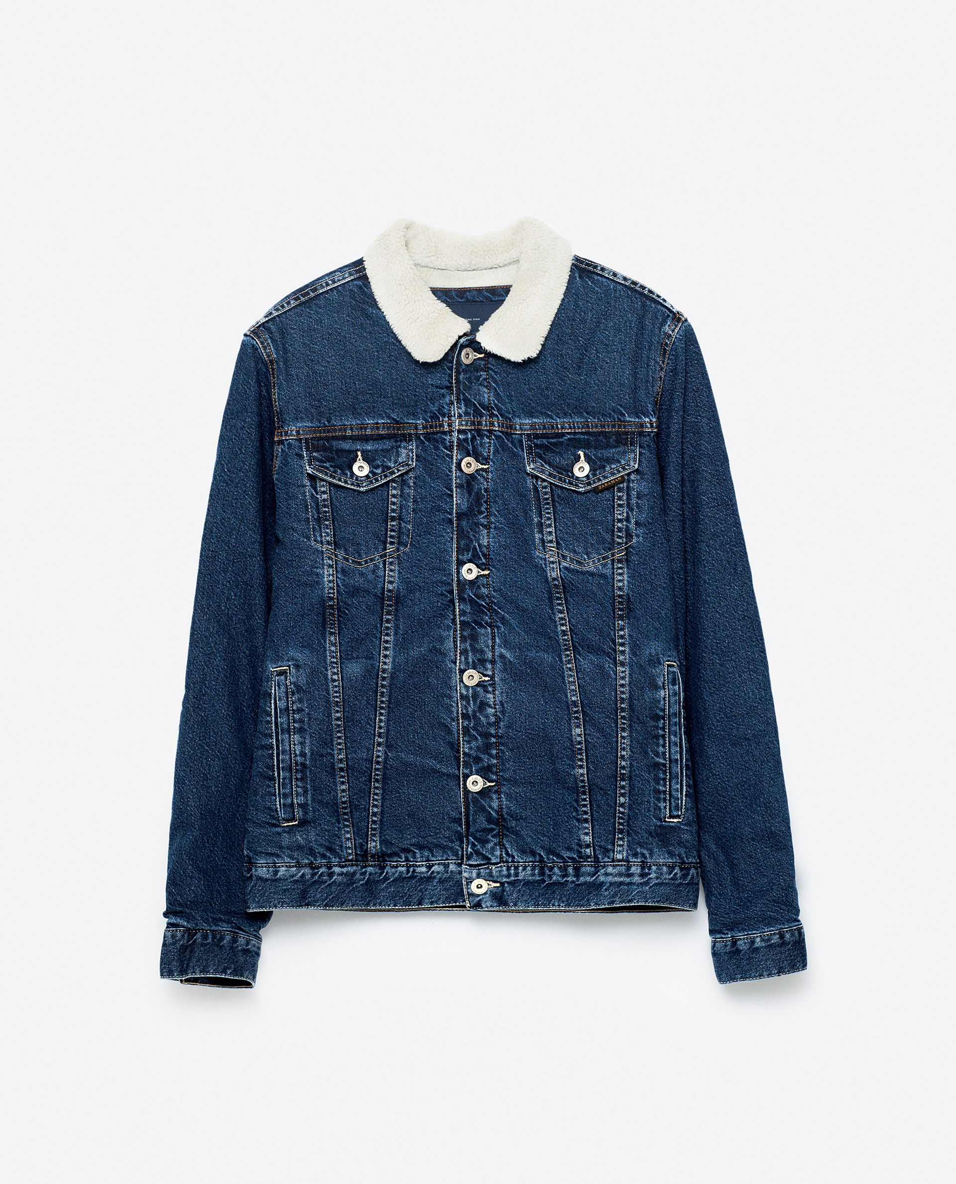 CAZADORA DENIM BORREGO Denim Jacket With Dress, Jacket Dress, Sheepskin  Jacket, Denim Jackets b97d75519260