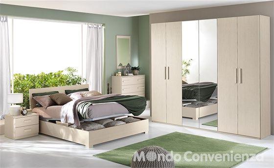 bed with storage Mondo Convenienza Camera da letto