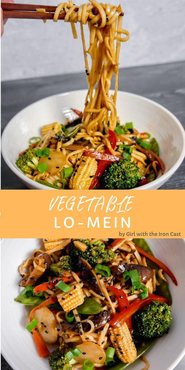 Better than take out vegetable lo mein! #LoMein #noodles