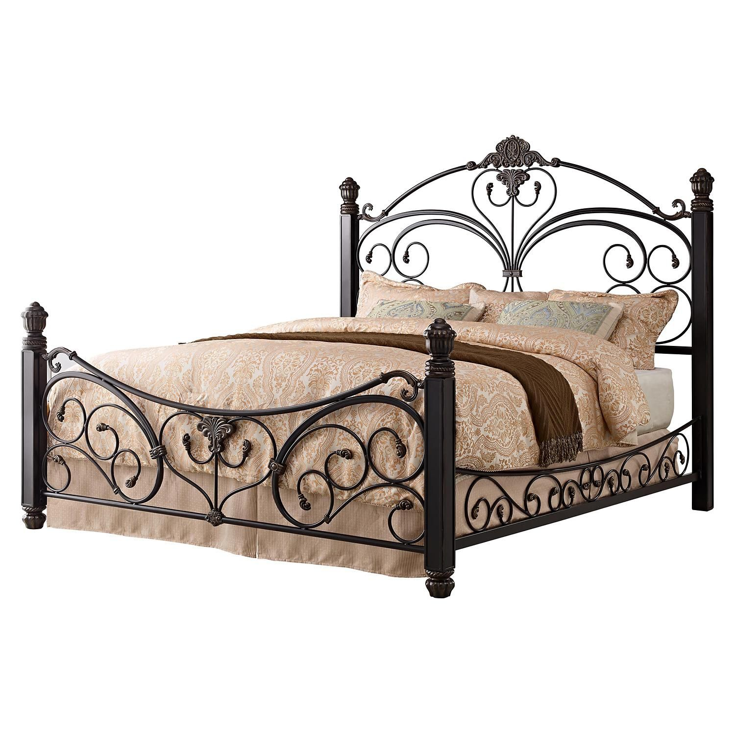 Alysa Metal King Bed With Decorative Side Rails Sam S Club