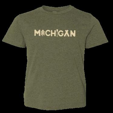 Michigan Outdoors I Youth Tshirt Michigan outdoors, Old