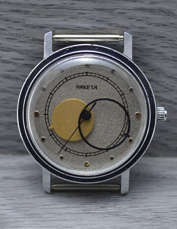 e95c17851938 Mens RARE Vintage Soviet Russian watch USSR RAKETA Kopernik Copernic ...