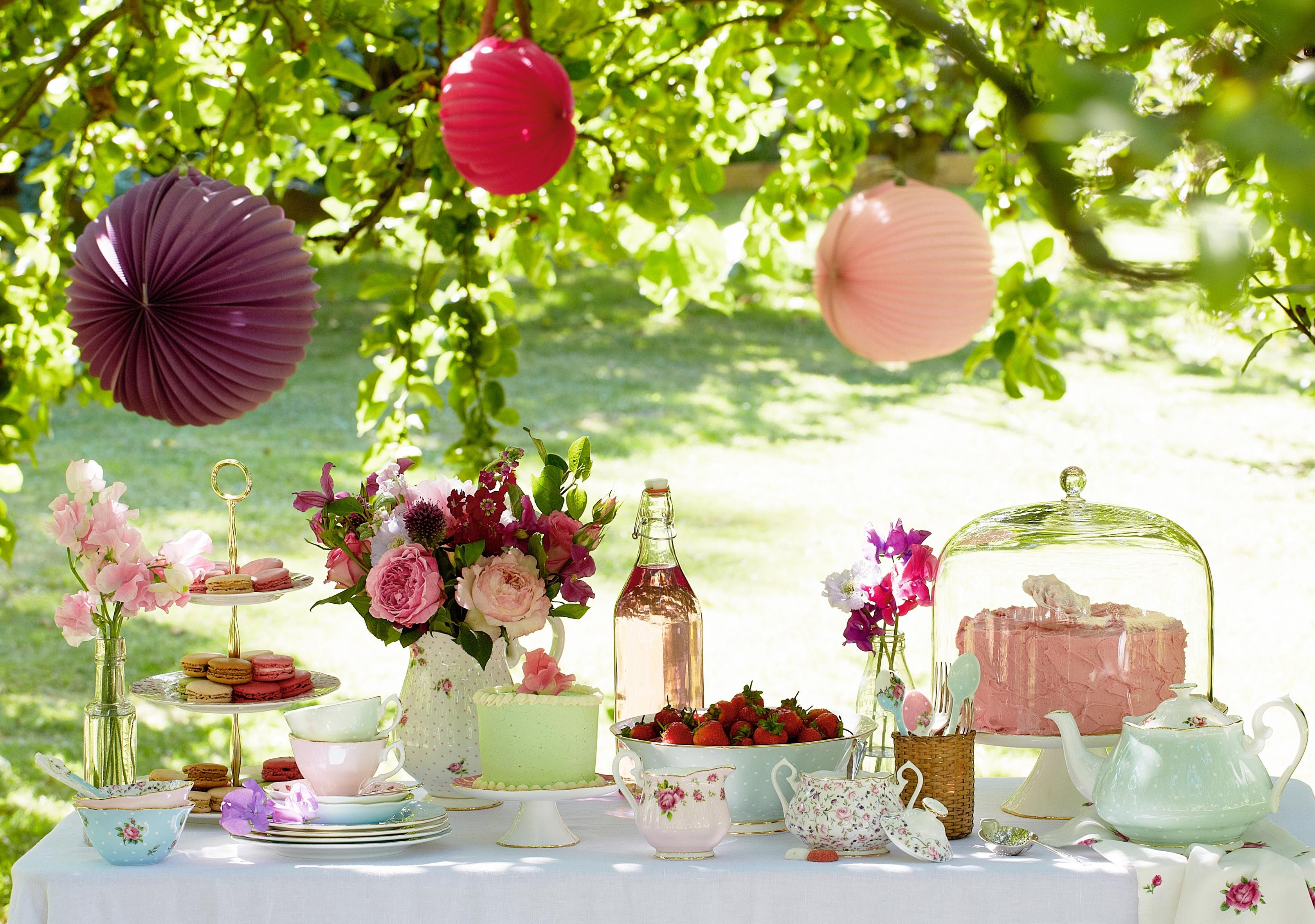 Take your teacups outside and enjoy a Royal Albert Summer Tea Party ...
