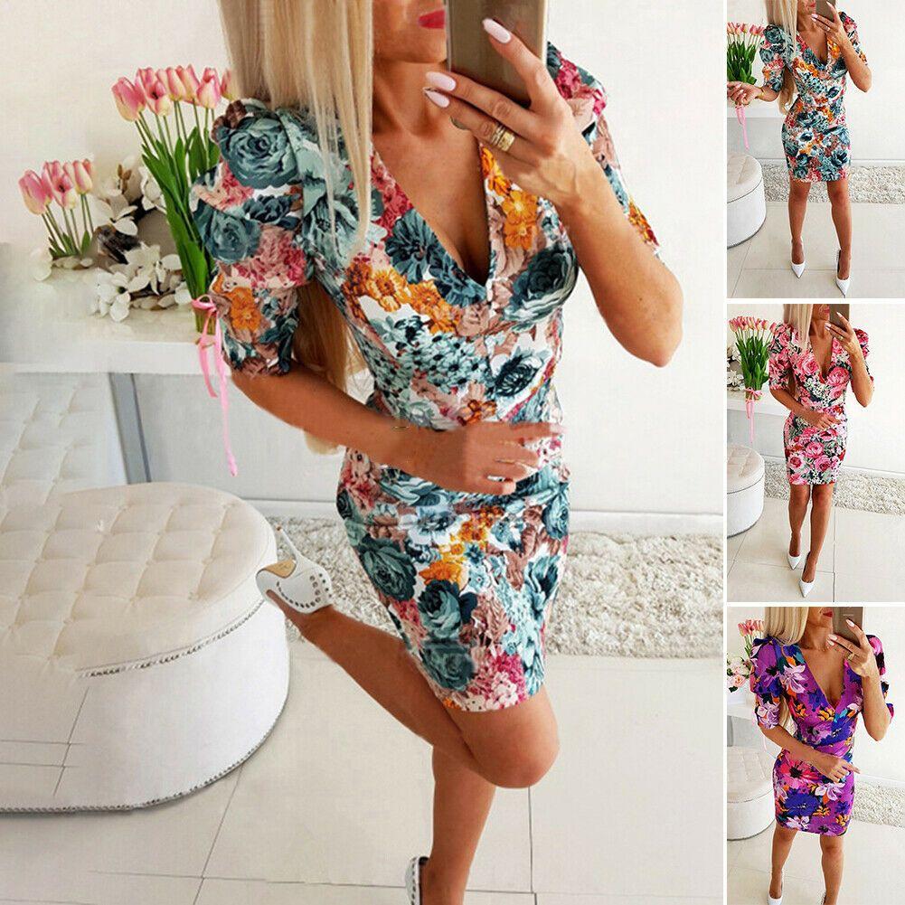 bedruckt kleid kleider sommerkleid slim fit rückenlos