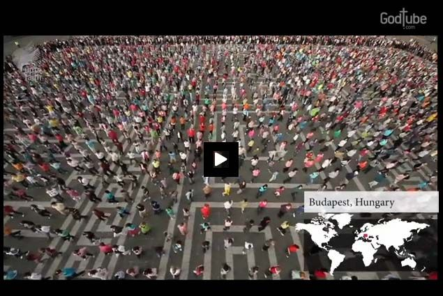39 cities from all across the globe participated in this exciting  dance--which is quite possibly the biggest flash mob in the world! Hallelujah He is Risen!!!