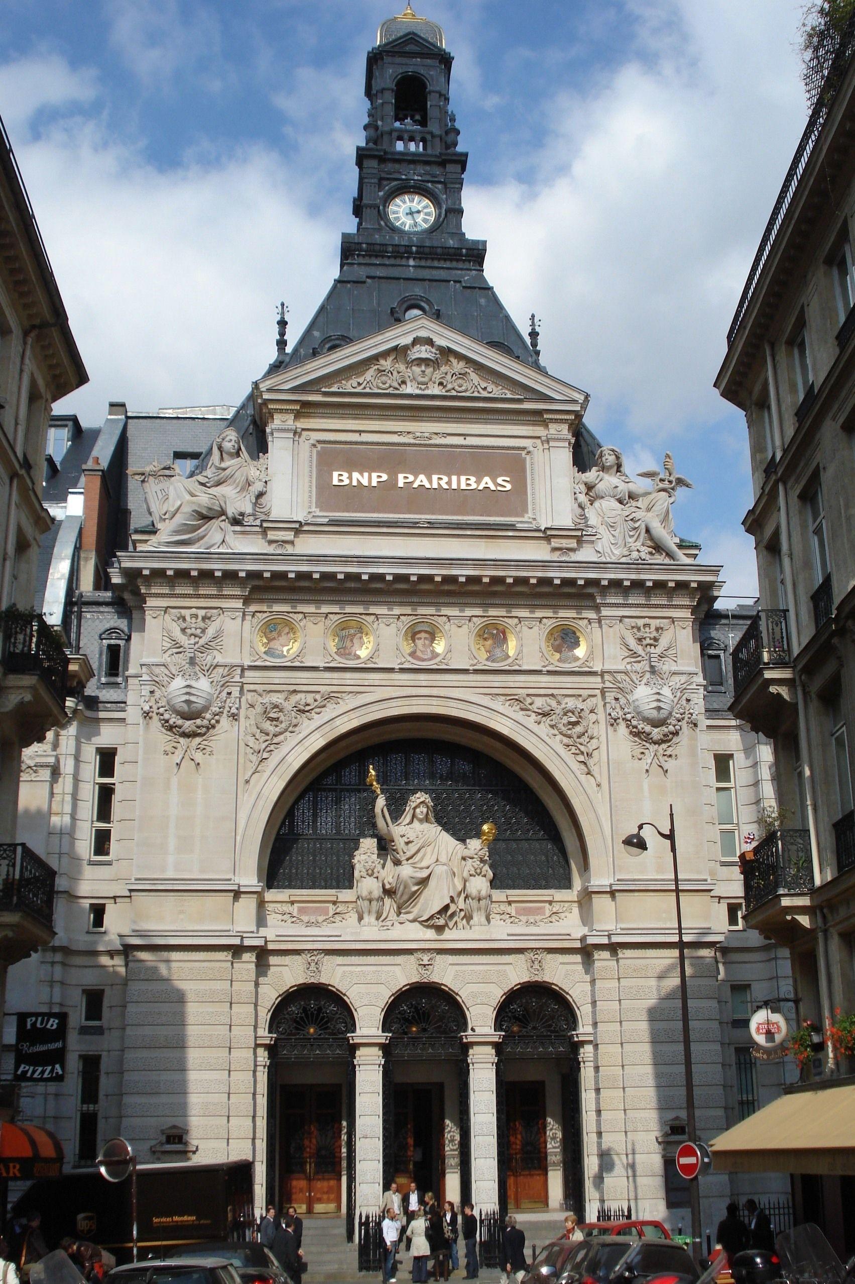 19th Century France Former Comptoir National D Escompte De Paris Now Banque Nationale De Paris By Edouard Jules Corroyer Paris 1878 82 Paris France Rue
