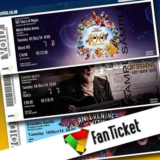 Is your #ticket a #FanTicket?   Keep a look out for the special FanTicket logo when booking an event and you'll have the option of receiving a custom designed commemorative ticket for the show!