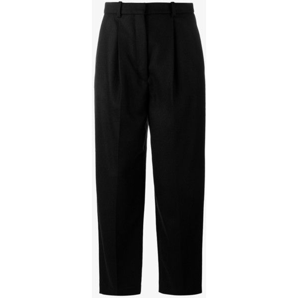 Acne Studios Milli Cashmere-Blend Cropped Trousers (€330) ❤ liked on Polyvore featuring pants, capris, bottoms, acne studios, cropped capri pants, cropped pants and cropped trousers