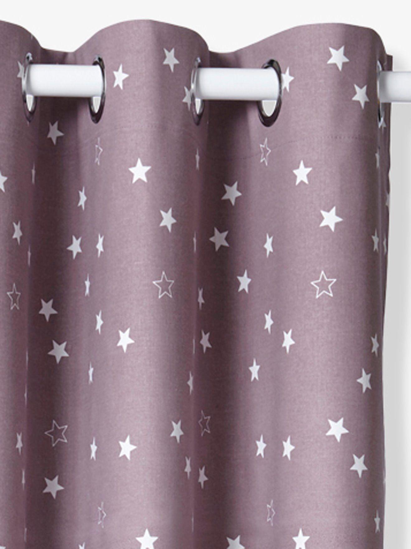 Jugendzimmer wandkunst verdunkelungsvorhang mit sternen von vertbaudet in violett  nur uac