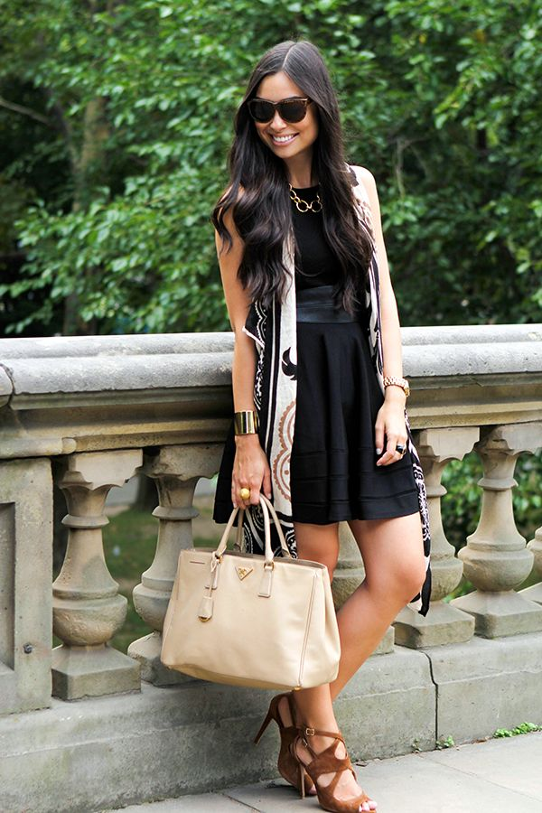 with love from Kat : LBD with scarf