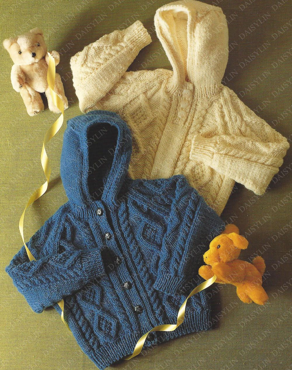 PDF Instant Digital Download baby aran knit jacket & sweater ...