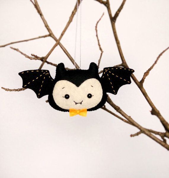 halloween decorations bat toys felt set of 2 bats spooky home ornaments gift for kids kawaii bat girl cute bat boy hanging scary party decor - Bat Halloween Decorations