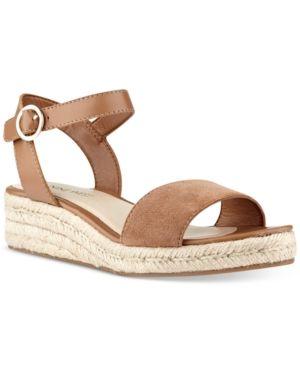 281ecc003 Nine West Allium Two-Piece Platform Wedge Sandals - | Products ...